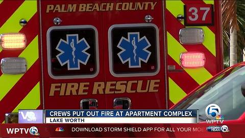 Crews put out fire at apartments in Lake Worth
