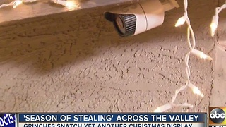 More Christmas decorations stolen in Valley neighborhood - Video