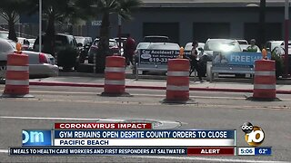Gym in Pacific Beach Remains open despite orders to close down