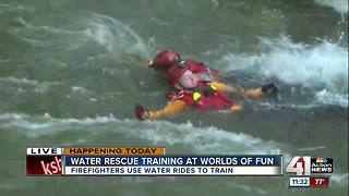 Water rescue training at Worlds of Fun - Video