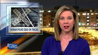 woman's found found on railroad tracks - Video