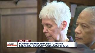 Former Dearborn city clerk still gets pension, despite being caught stealing - Video