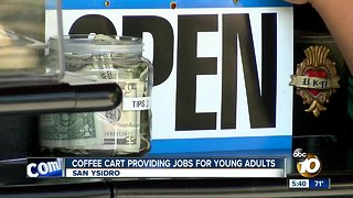 Coffee cart provides jobs for young adults