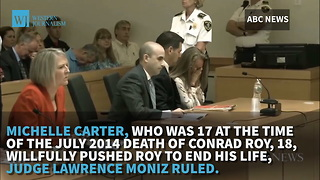 Woman Who Texted Boyfriend To Commit Suicide Convicted Of Manslaughter - Video