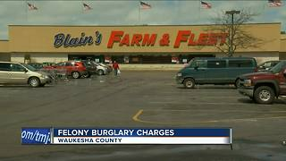 Homeless man charged with felony after sleeping over at Waukesha Farm & Fleet - Video