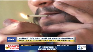 Marijuana possession no longer prosecuted in Baltimore