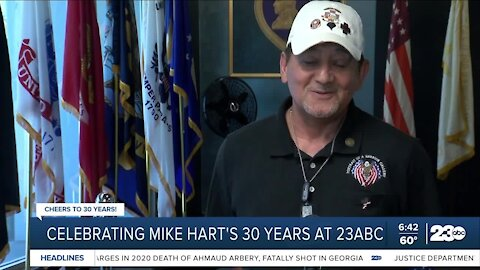 Cheers to 30: Local veterans say thank you and congrats to our 23ABC's Mike Hart