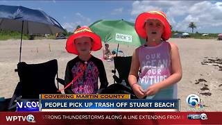 Beach cleanup held on Stuart beach - Video