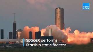 SpaceX performs Starship static fire test ahead of hop test