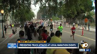 Preventing truck attacks at local marathon events - Video