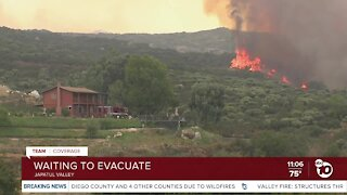 Valley Fire forces residents to evacuate overnight