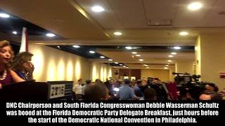 Crowd yells shame at Debbie Wasserman Schultz | Rare News - Video