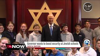 Florida Gov. wants to boost security at Jewish schools - Video