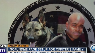 GoFundMe page set up for officer's family - Video