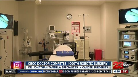 Local doctor complete 1,000th robotic surgery at CBCC