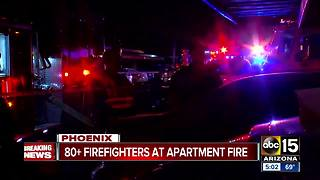 Apartment fire in north Phoenix destroys several units - Video