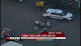 Rides at Ohio State Fair closed while investigators look into accident that killed one and injured several others - Video