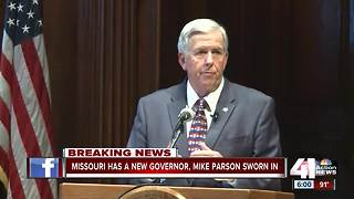Missouri swears in new governor, Mike Parson - Video