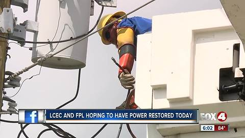 Power companies hoping to have power restored today