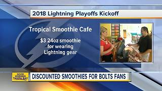 Discounted smoothies for Bolts fans
