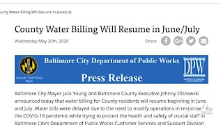 Baltimore County residents wait to find out when water billing will resume