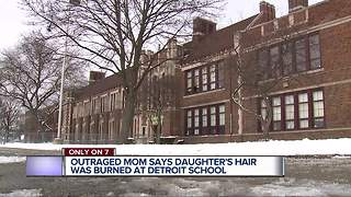Outraged mom says daughter's hair was burned at Detroit school - Video