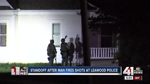 Man in custody after allegedly shooting at Leawood police