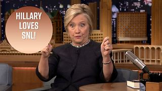 Hillary Clinton is totally obsessed with SNL - Video