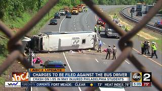 Charges to be filed against bus driver in May I-95 crash - Video
