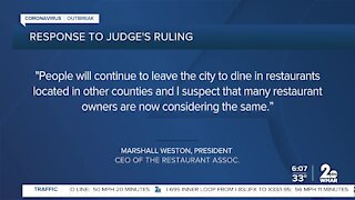 Circuit Court judge denies temporary restraining order against city's ban on dining