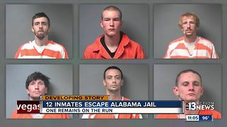 12 Inmates escape Alabama jail - Video