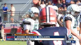 Jensen Beach Blows Out Benjamin - Video
