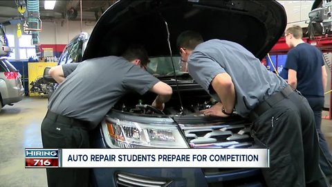 Auto repair students tune up skills for big competition