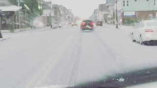 Upstate New York Pelted with Wintry Mix of Rain and Snow - Video