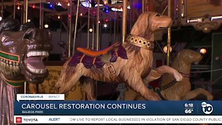 Carousel restoration continues during Pandemic