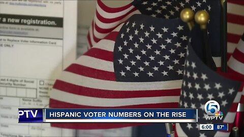 Hispanics are becoming a fast growing segment of registered voters in Palm Beach County