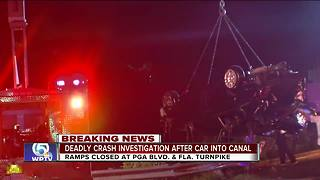 Police chase ends in crash into Palm Beach Gardens pond - Video