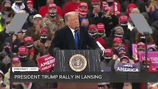 President Trump rally held in Lansing