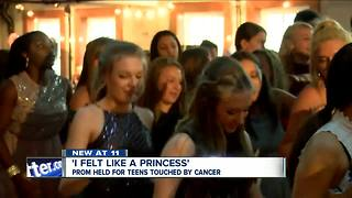 Prom held for teens touched by cancer - Video