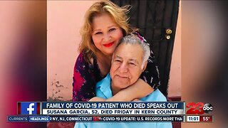 Family of COVID-19 patient who died speaks out