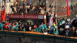 Thousands of Italians Attend Medieval Battle of the Oranges - Video