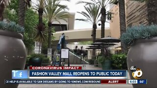 Fashion Valley Mall reopens on Saturday