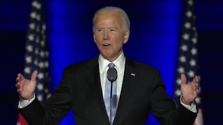 President-elect Joe Biden addresses the nation in Wilmington