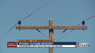 Power outage leaves Sandy Valley residents without air conditioning, water