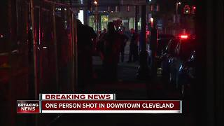 17-year-old boy shot in chest at Public Square - Video