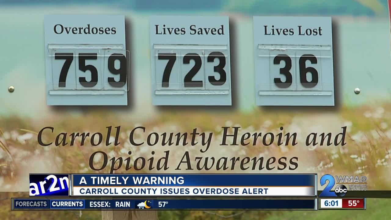 A timely warning as Carroll County issues overdose alert