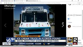Ice cream truck found thanks to social media - Video