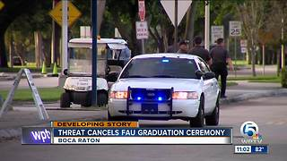 FAU commencement ceremony canceled over 'credible threat' - Video