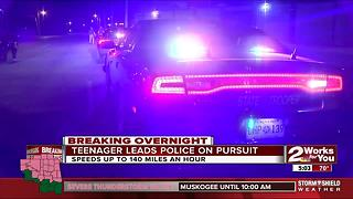 Teenager in custody after leading pursuit with police - Video