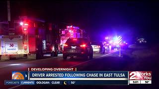 Overnight police pursuit leaves a suspect wet
